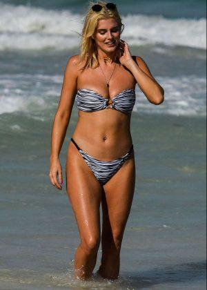 Ashley James in Bikini on the beach in Tanzania
