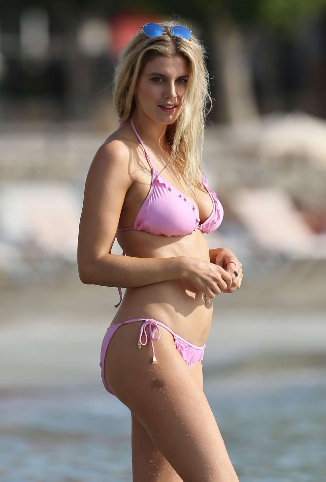Ashley James in Pink Bikini -16