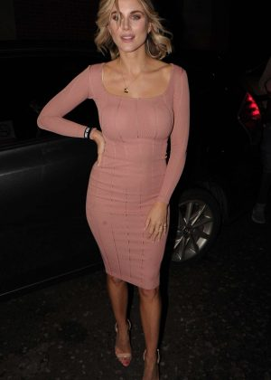 Ashley James - Night out in pink dress at InTheStyle clothing launch
