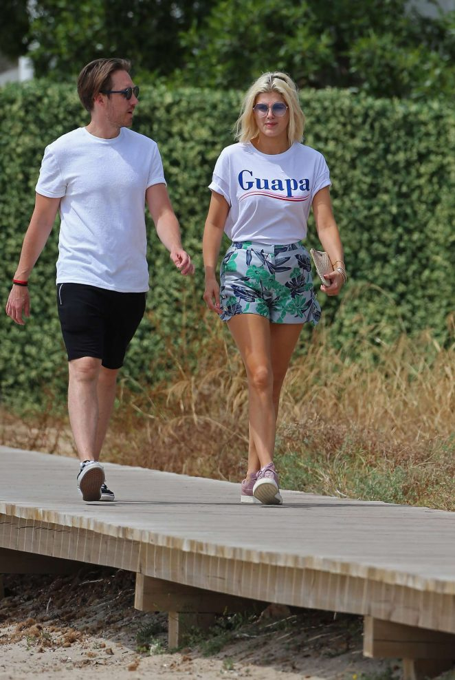 Ashley James on holiday in Spain