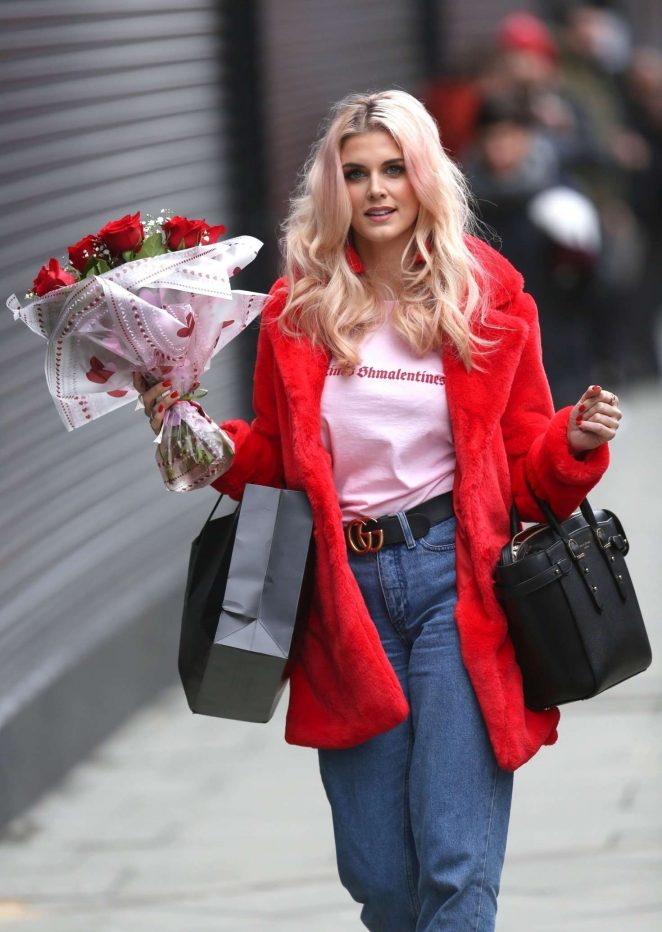 Ashley James on Valentines Day in London