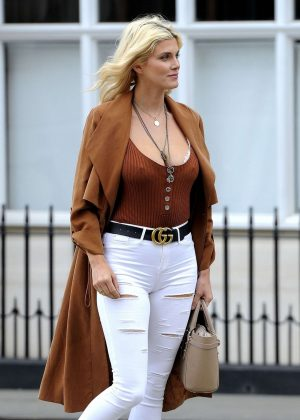 Ashley James out and about in London