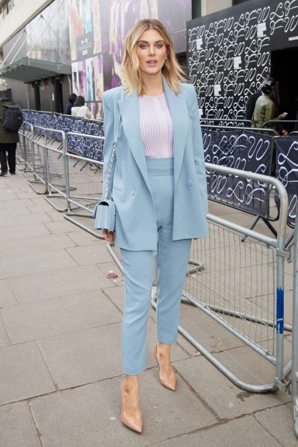 Ashley James - Seen out during London Fashion Week