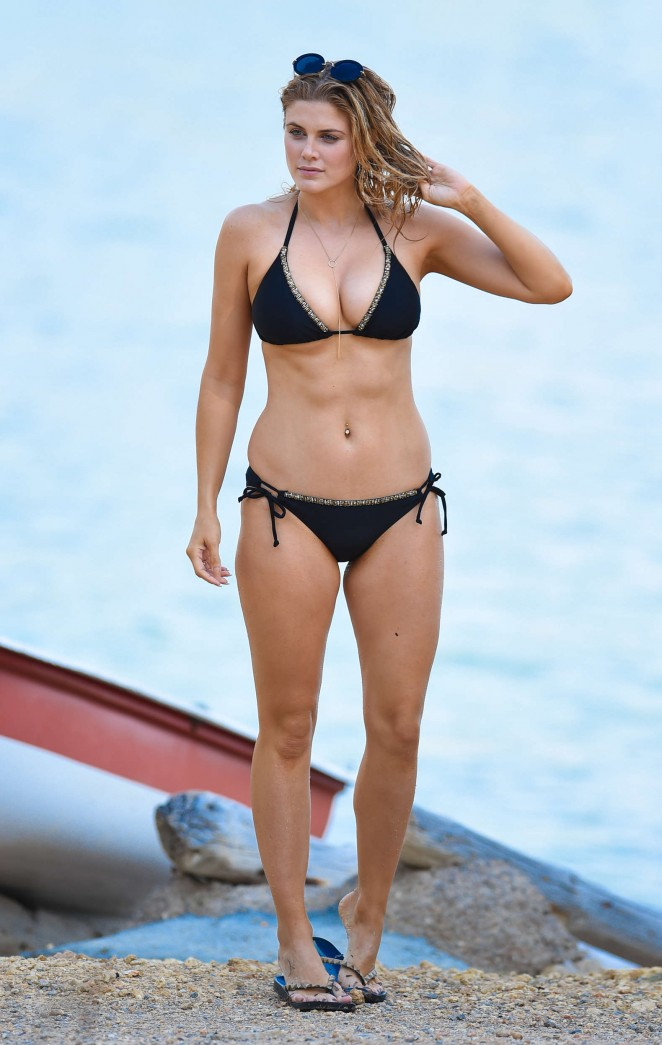 Ashley James – Wearing Black Bikini -01