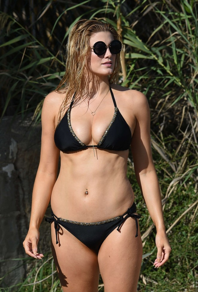 Ashley James – Wearing Black Bikini -04