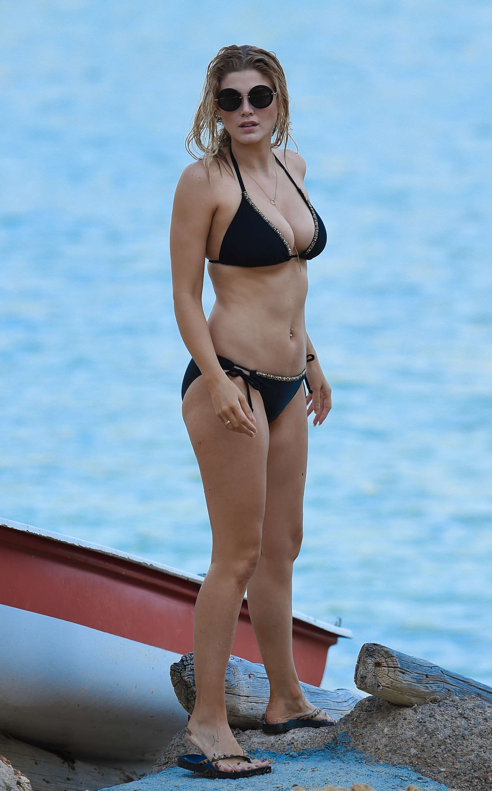 Ashley James – Wearing Black Bikini -13