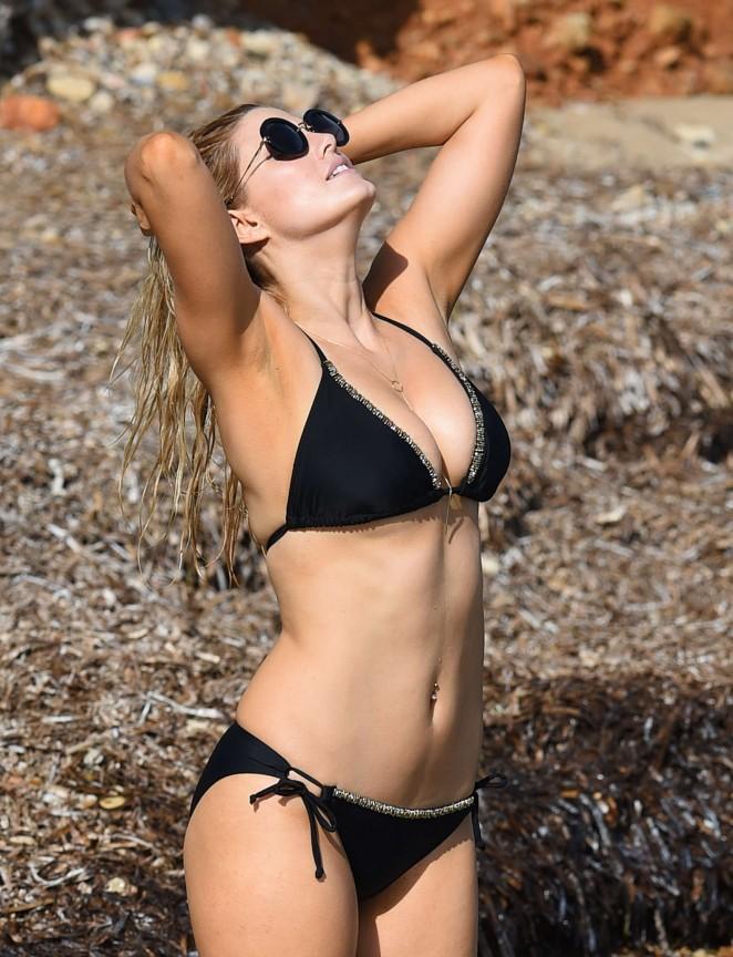 Ashley James – Wearing Black Bikini -14