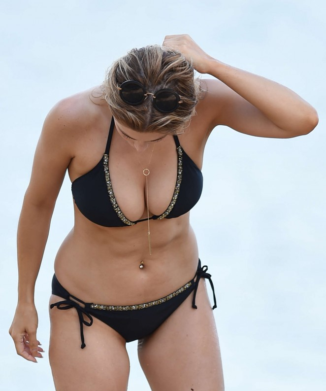 Ashley James – Wearing Black Bikini -16