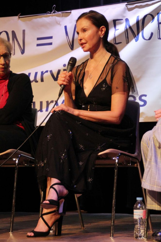 Ashley Judd - Violence of Prostitution Conference in Paris