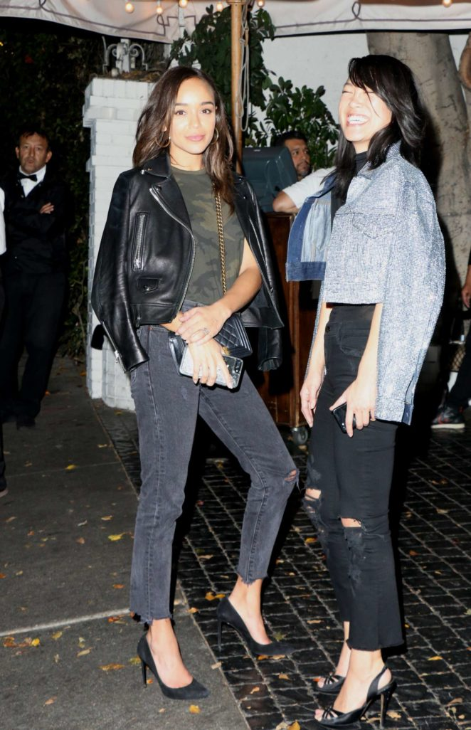Ashley Madekwe - Leaving an event at The Chateau Marmont in LA