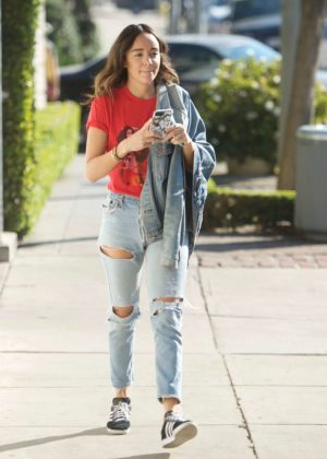 Ashley Madekwe - Shopping on Melrose in LA