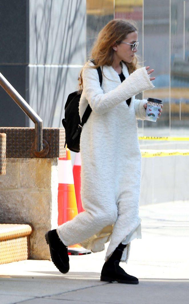 Ashley Olsen Arrives at work in New York City