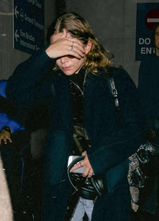Ashley Olsen at Los Angeles International Airport
