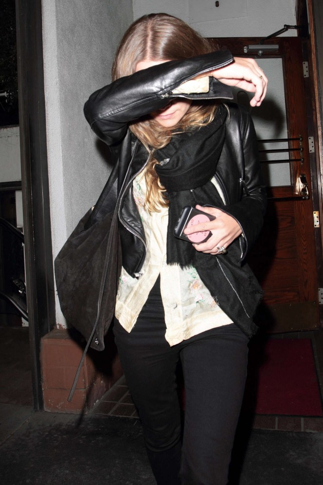 Ashley Olsen at Madeo Restaurant in Hollywood