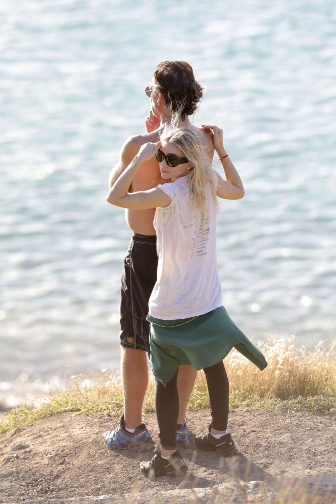 Ashley Olsen at the beach in St Barth