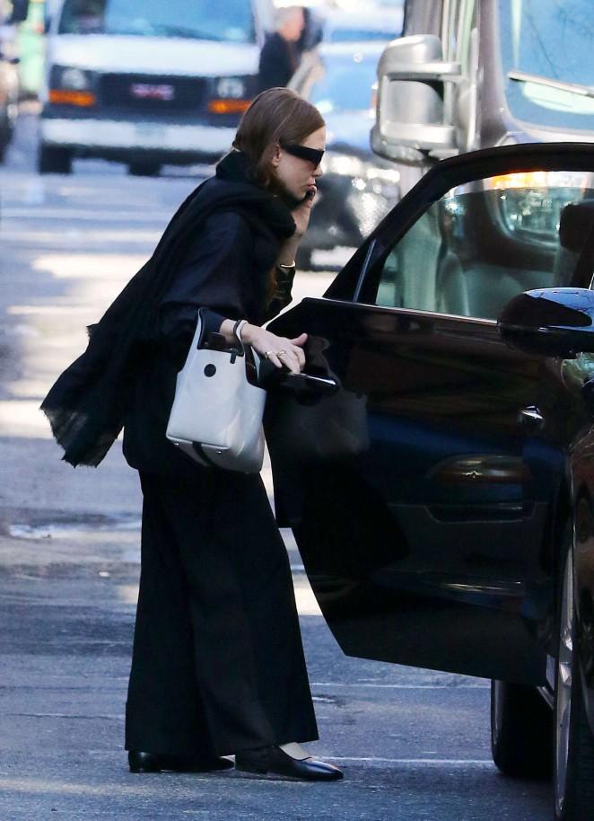 Ashley Olsen - Leaves her Apartment in New York City