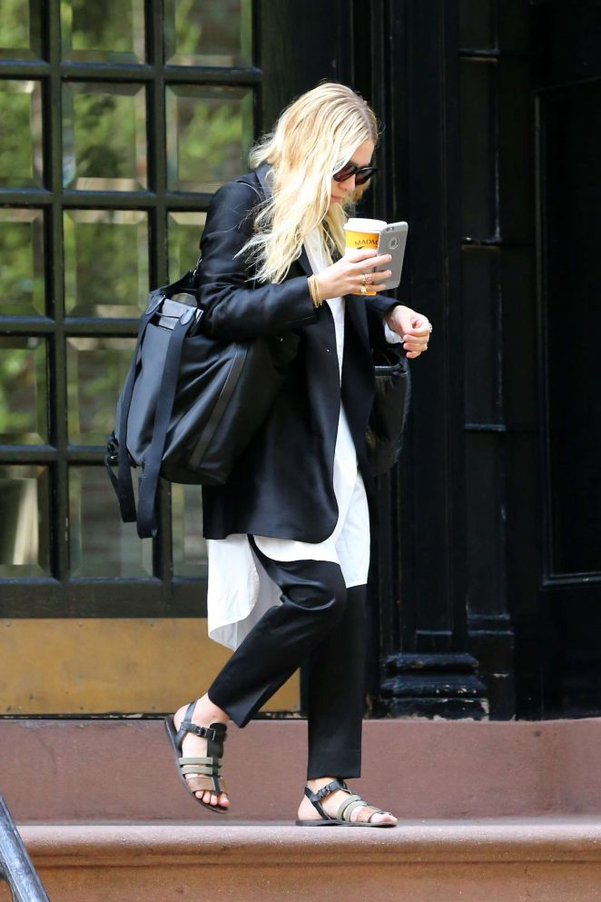 Ashley Olsen out in New York City