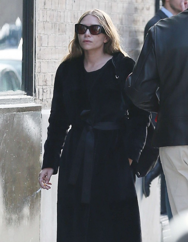 Ashley Olsen out in New York