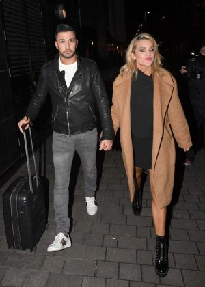 Ashley Roberts and Giovanni Pernice - Leaving the SSE Arena in London