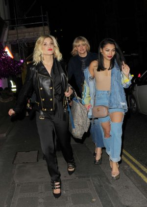 Ashley Roberts and Vanessa White - Leaving Maybelline - Bring on the Night party in London