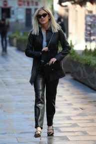 Ashley Roberts - Arrive at Global Radio in London