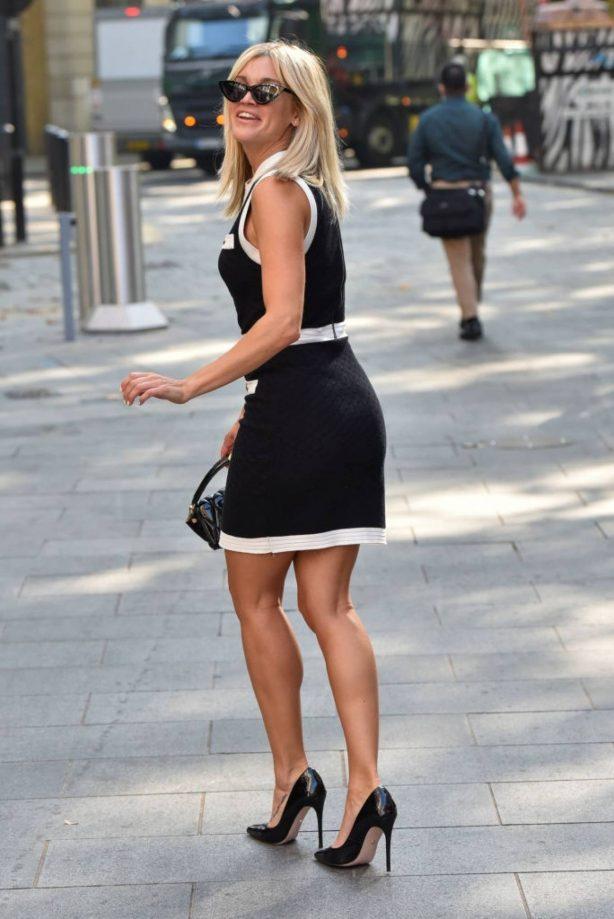 Ashley Roberts arrives in Heart Radio Studios in London