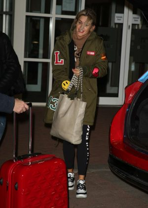 Ashley Roberts - Arriving at The Big Blue Hotel in Blackpool