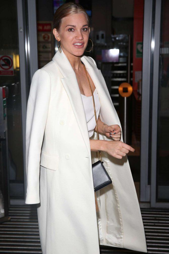 Ashley Roberts - Arriving on Chris Evans Breakfast Show in London