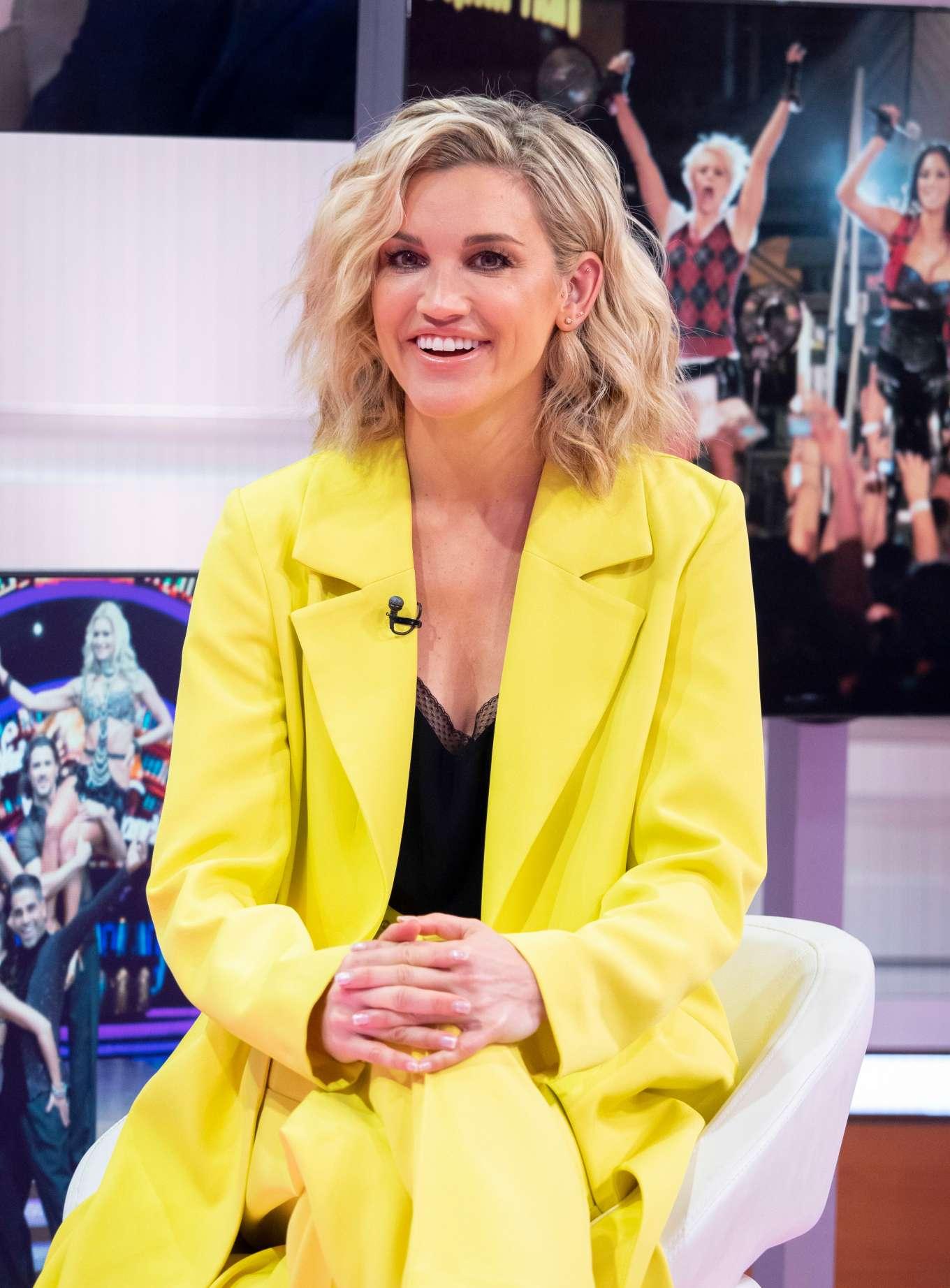 Ashley Roberts - Good Morning Britain TV show in London