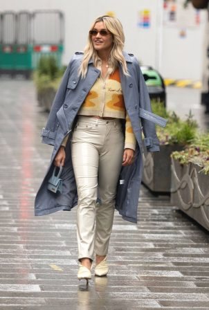 Ashley Roberts - In Fiorucci trousers at the Global Radio Studios in London