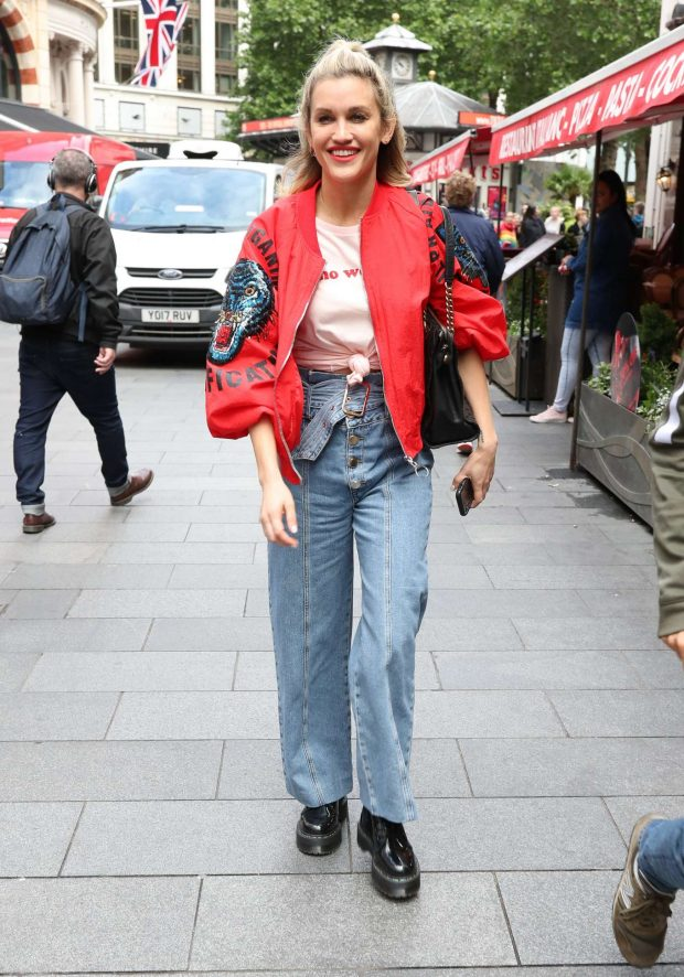 Ashley Roberts in Jeans at Global Radio Studios in London