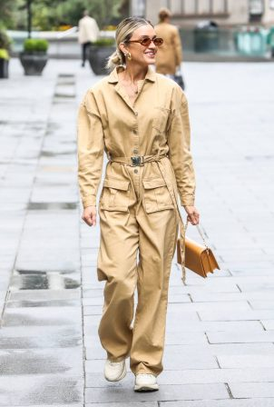 Ashley Roberts in Jumpsuit - Out in London