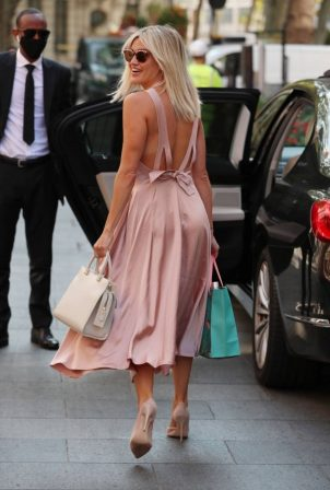 Ashley Roberts - In maxi dress At Global Radio in London