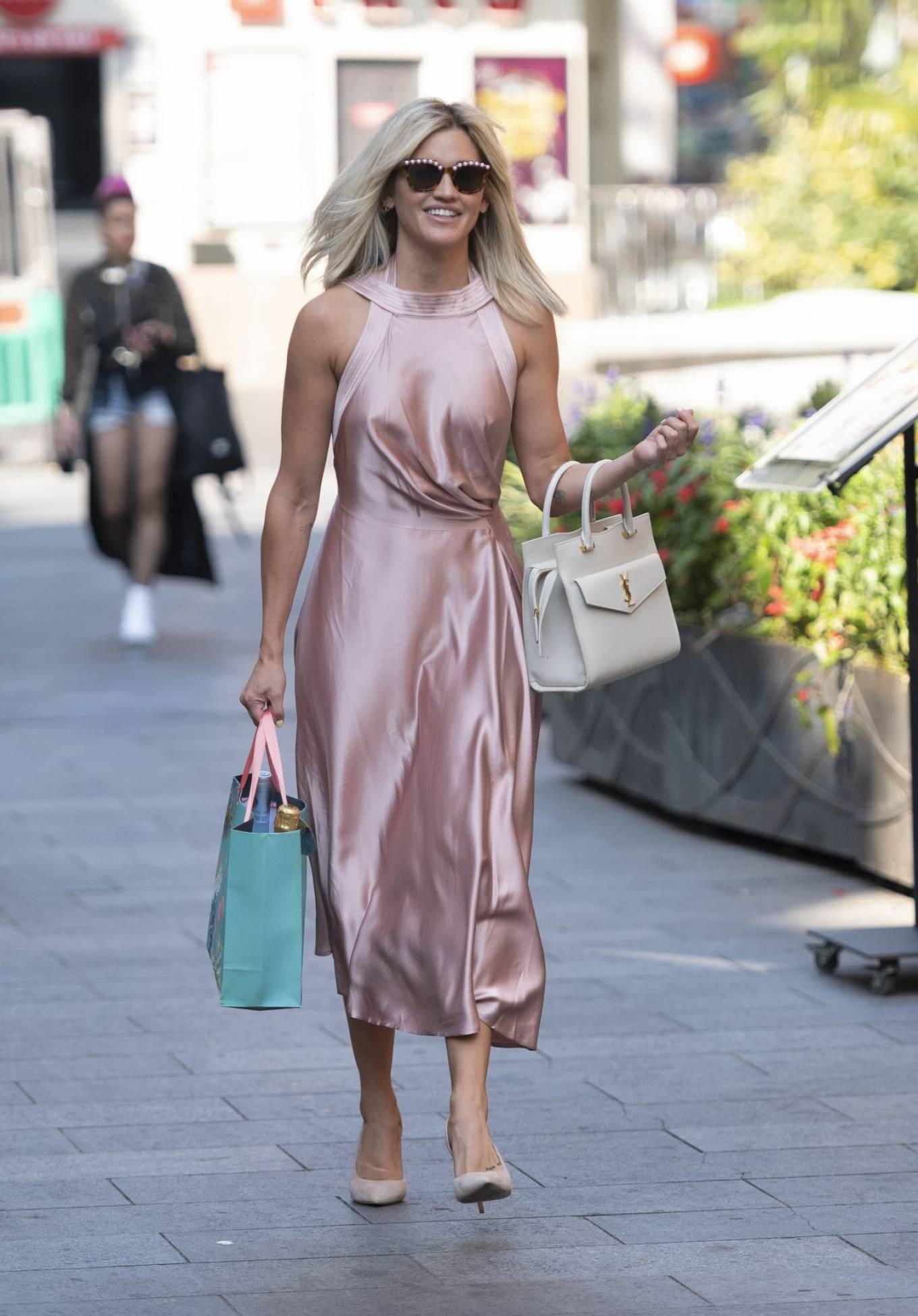 Ashley Roberts 2020 : Ashley Roberts – In maxi dress At Global Radio in London-02