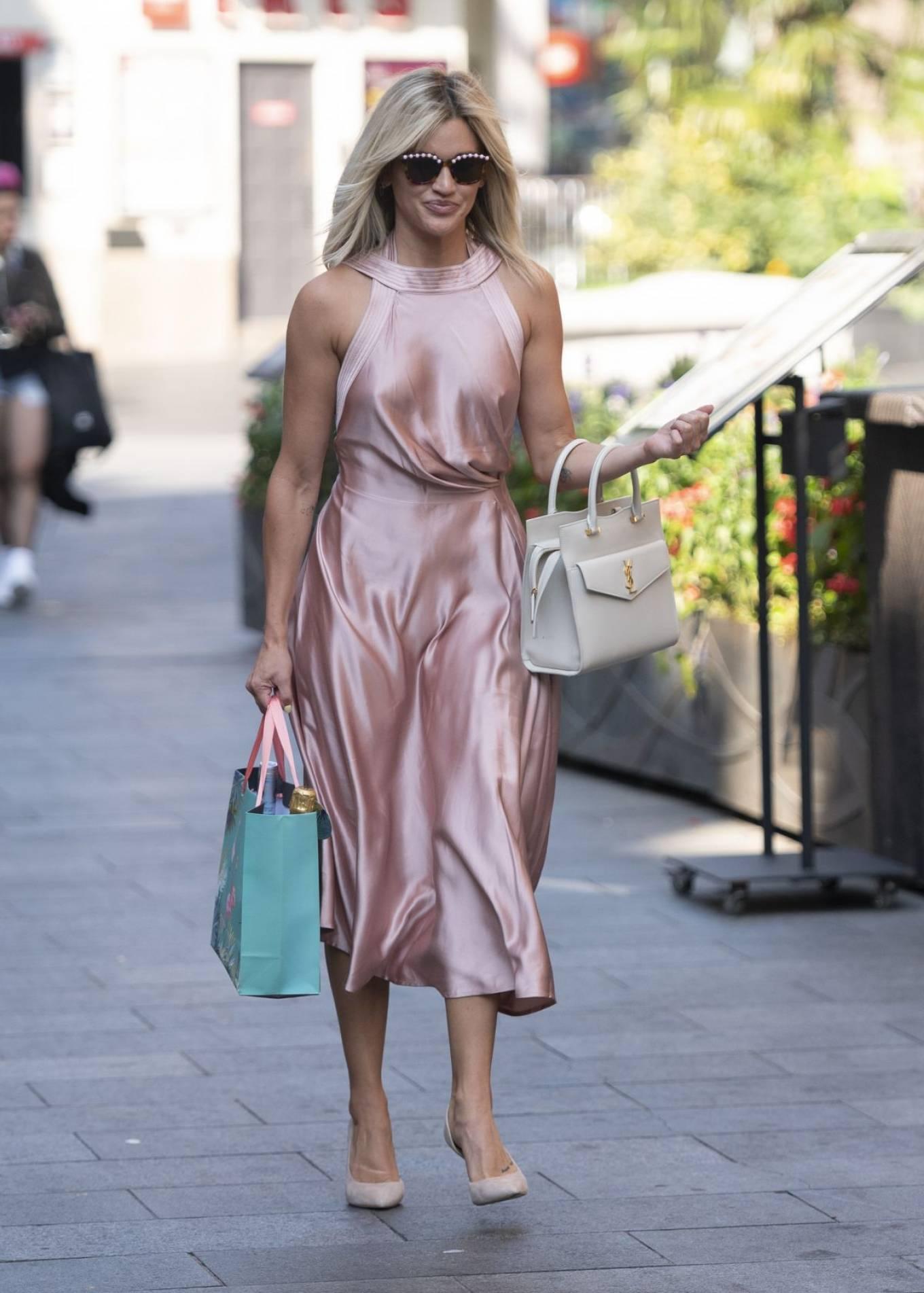 Ashley Roberts 2020 : Ashley Roberts – In maxi dress At Global Radio in London-06