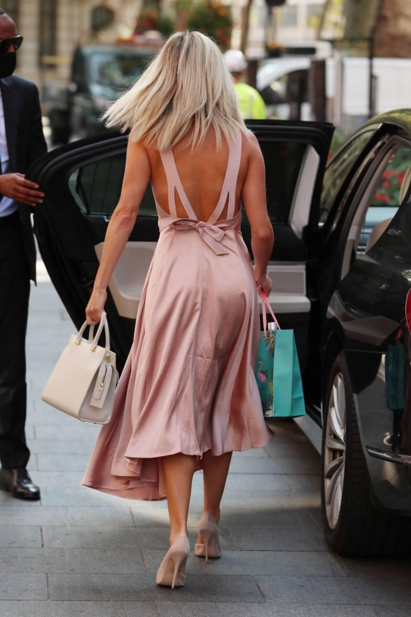 Ashley Roberts 2020 : Ashley Roberts – In maxi dress At Global Radio in London-09