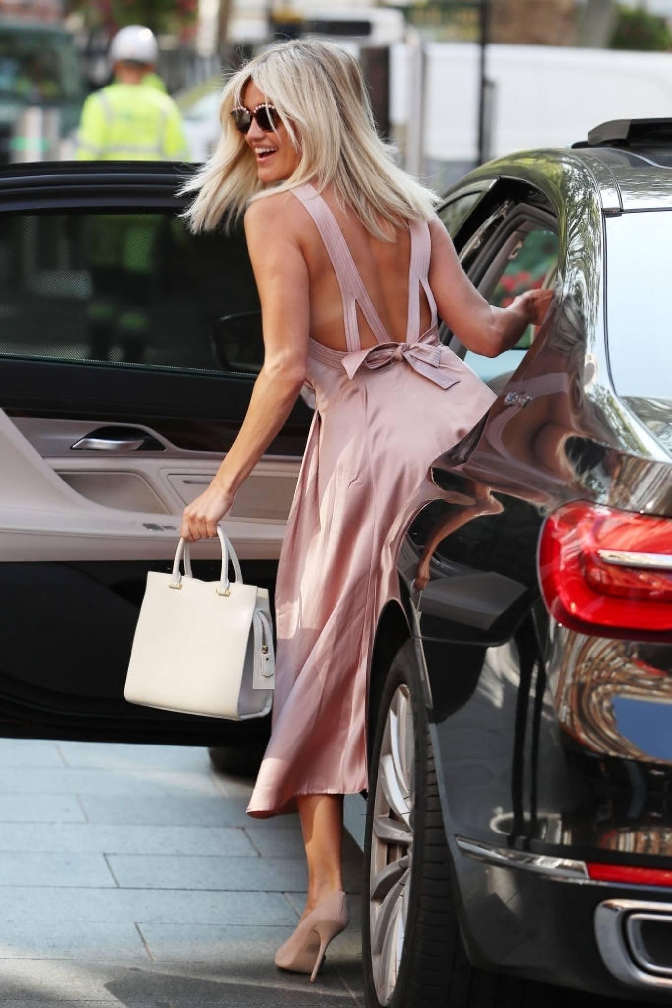 Ashley Roberts 2020 : Ashley Roberts – In maxi dress At Global Radio in London-10