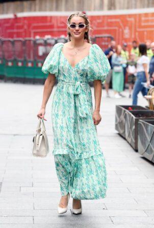 Ashley Roberts - In maxi summer dress seen departing the Global Radio Studios in London