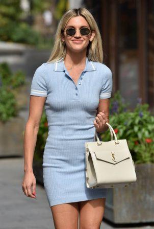 Ashley Roberts in Mini Dress - Exits Heart radio in London