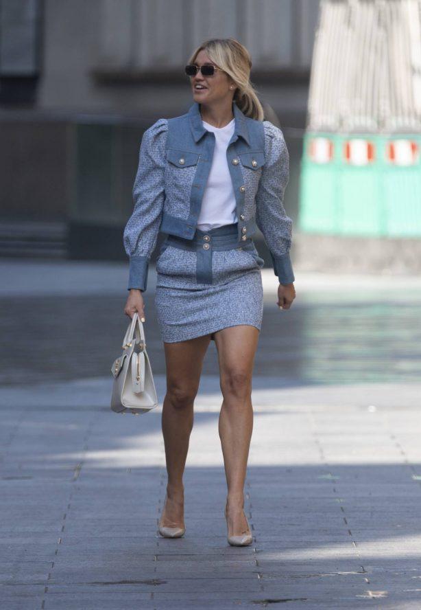 Ashley Roberts - In mini skirt at Global Radio Studios in London