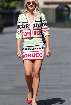 Ashley Roberts in Mini Skirt - Leaving the Global studios in London