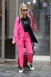 Ashley Roberts in Pink - Exit from Heart Radio in London