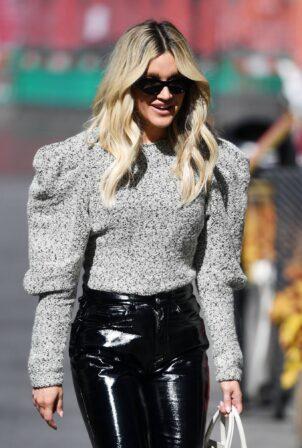 Ashley Roberts - In PVC pants leaving the Global Studios in London