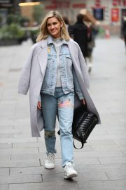 Ashley Roberts in Ripped Jeans - Leaving Heart Radio in London