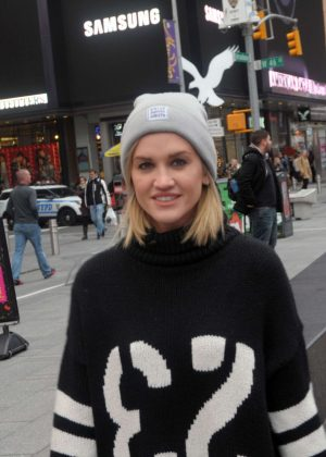 Ashley Roberts in Times Square New York