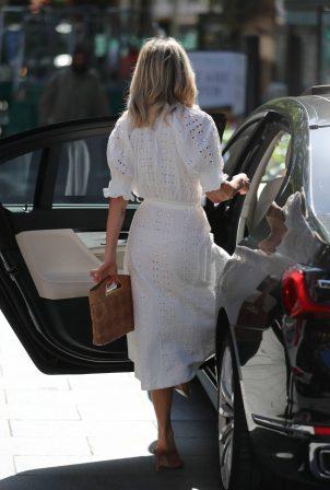 Ashley Roberts - In white dress at Global Radio Studios in London