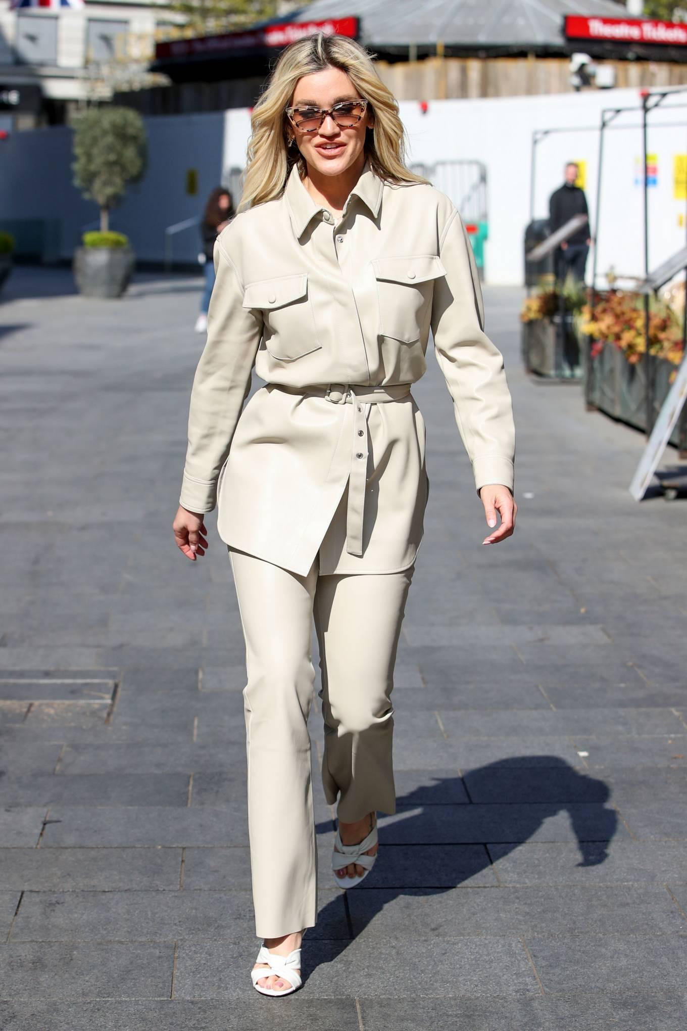 Ashley Roberts 2021 : Ashley Roberts – In white Seen at Global Radio Studios in London-04