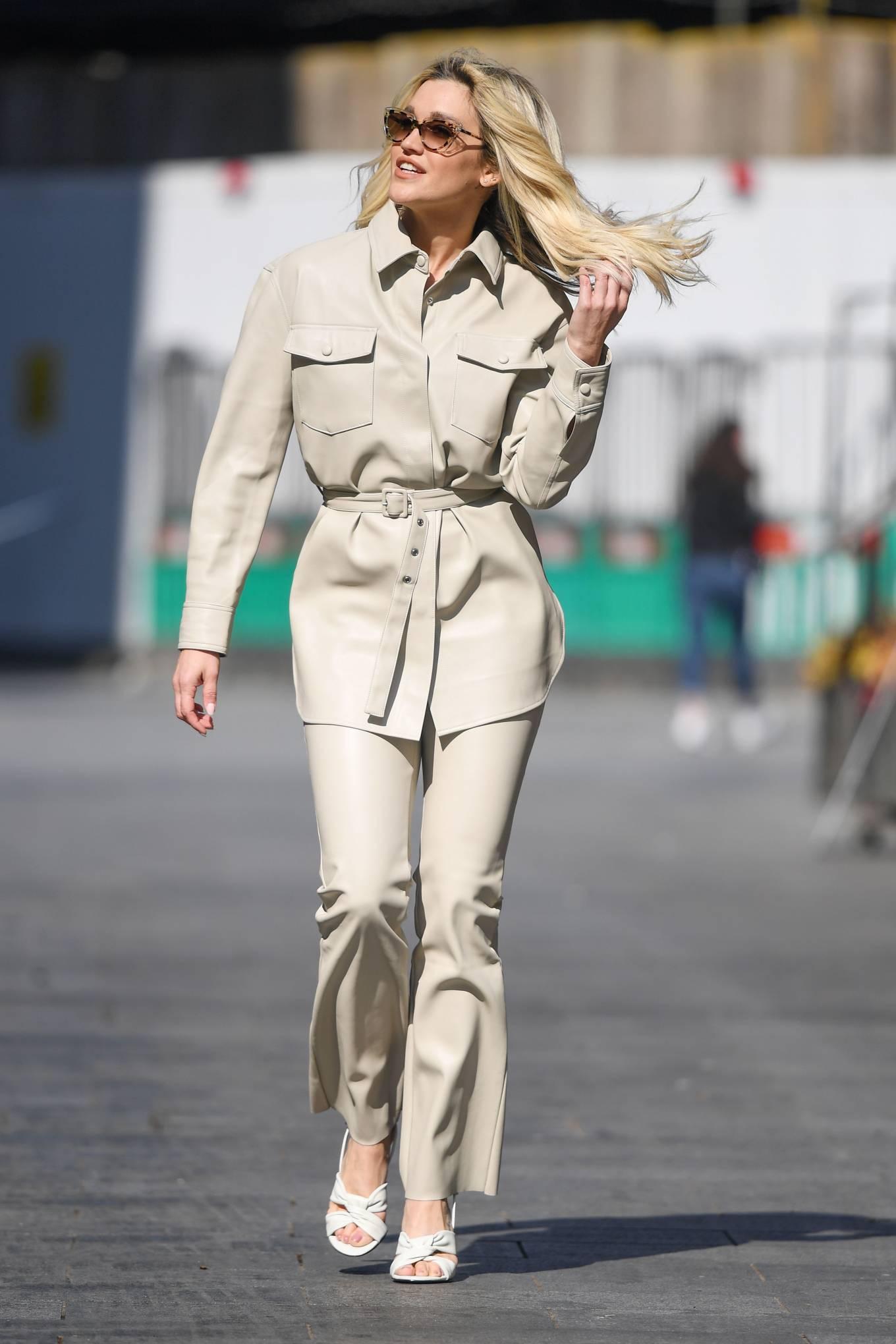 Ashley Roberts 2021 : Ashley Roberts – In white Seen at Global Radio Studios in London-05
