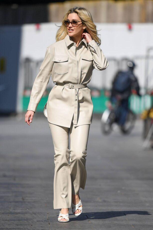 Ashley Roberts - In white Seen at Global Radio Studios in London