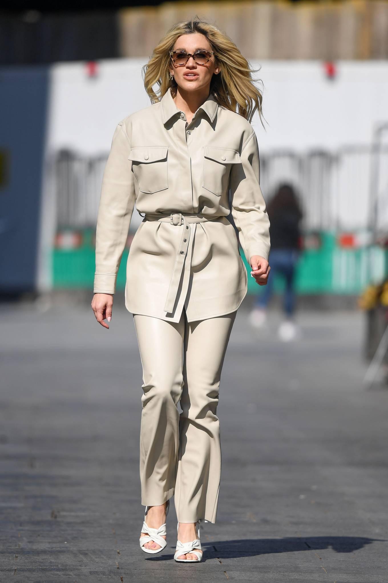 Ashley Roberts 2021 : Ashley Roberts – In white Seen at Global Radio Studios in London-11